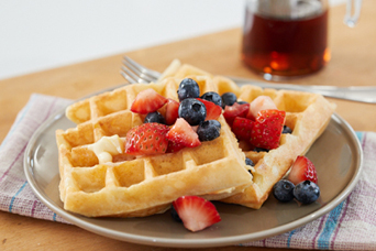 waffles with fruit from episode 1