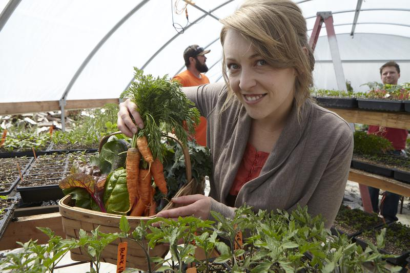 Jennifer Harris with carrots