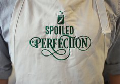 Spoiled to Perfection embroidered apron