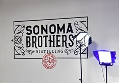 Sonoma brothers Distilling Sign